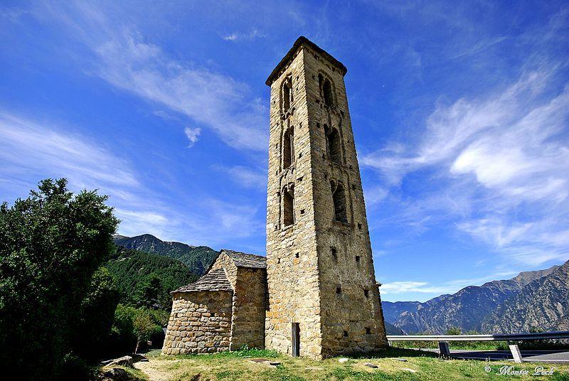 Saint Miguel d'Engolasters Church in Andorra la Vella