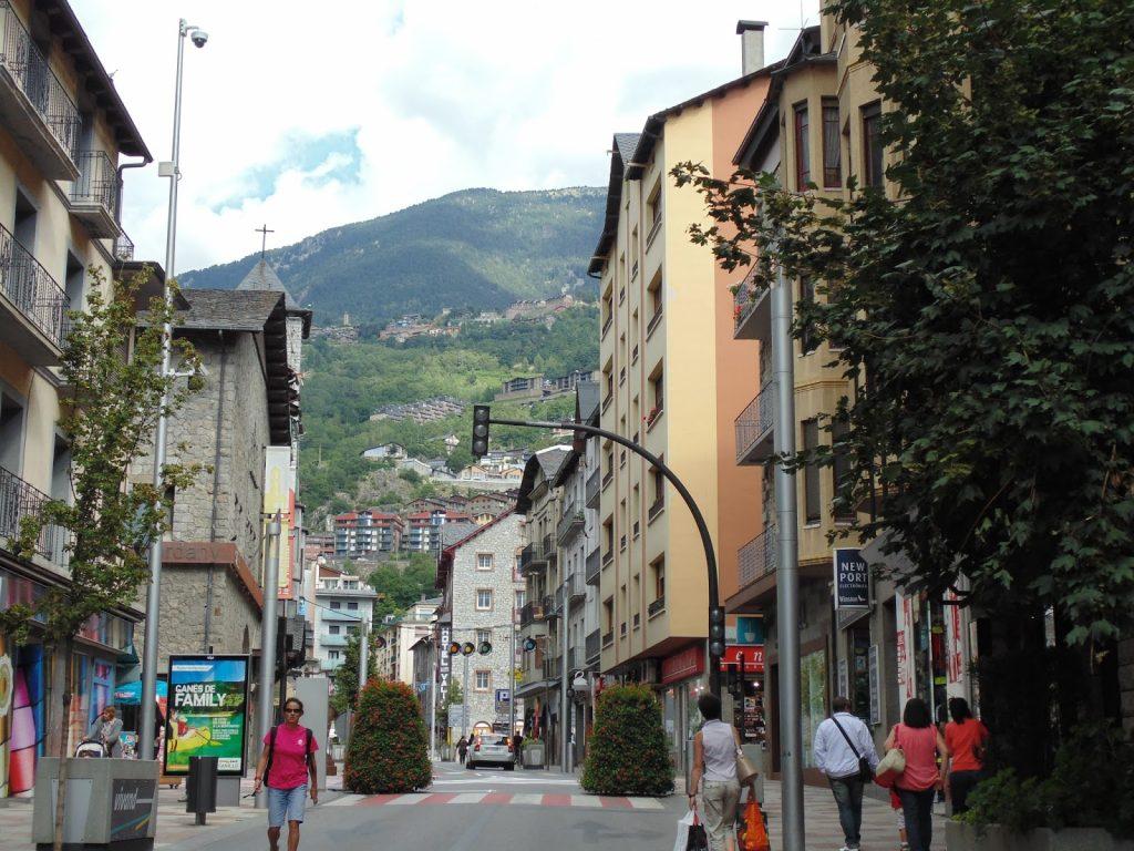 andorra la vella shops and squares